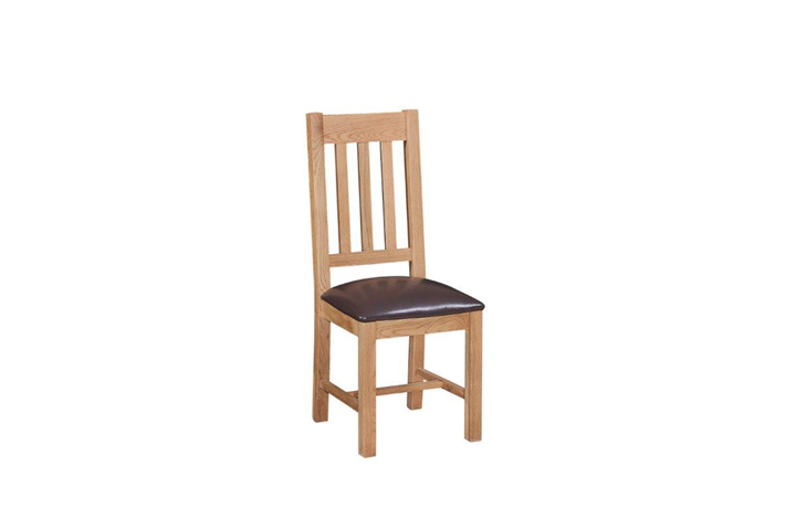Royal Oak Collection - Royal Oak Dining Chair With PU Leather Seat