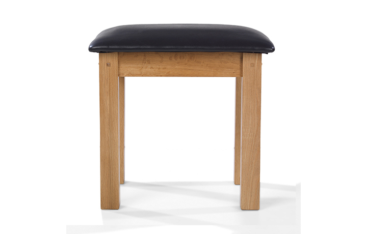 Dressing Tables & Stools - Knebworth Rustic Oak Dressing Table Stool
