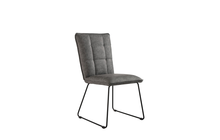 Edison Industrial Oak Range - Burton Grey Panel Back Chair