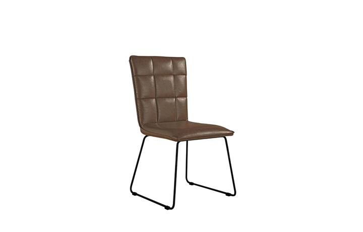 Edison Industrial Oak Range - Burton Brown Panel Back Chair