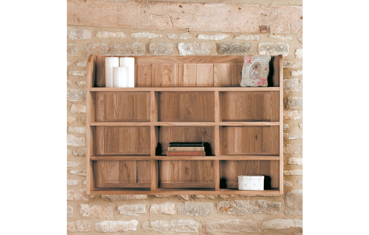 Office Furniture - Pacific Oak Wall Mounted Shelf Rack