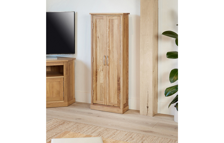 Office Furniture - Pacific Oak DVD Storage Cupboard