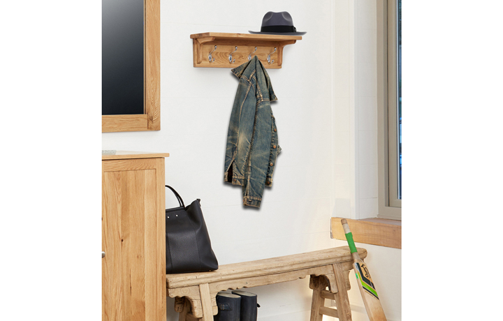 Pacific Oak Furniture Range (Web Exclusive) - Pacific Oak Wall Mounted Coat Rack