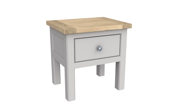 Grenada Painted Collection - Grenada Painted Lamp Table With Drawer