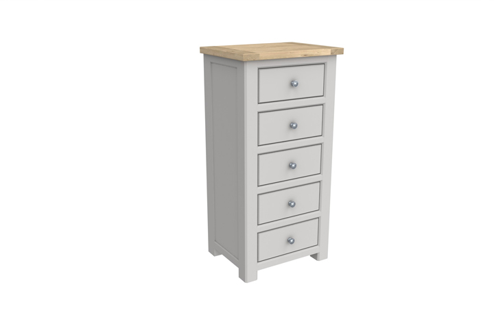 Grenada Painted Collection - Grenada Painted 5 Drawer Tall Chest