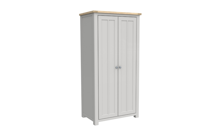 Grenada Painted Collection - Grenada Painted Full Hanging Wardrobe