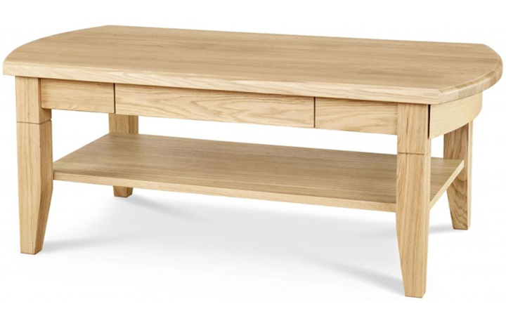 Lancaster Solid Oak Collection - Lancaster Solid Oak Coffee Table With Drawer