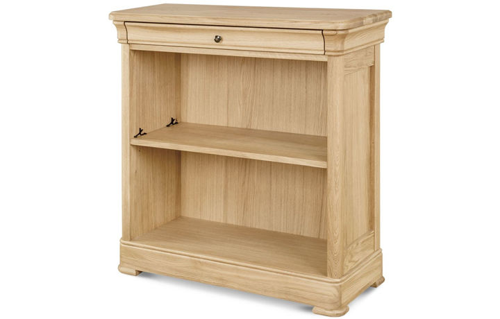 Lancaster Solid Oak Collection - Lancaster Solid Oak Small Wide Bookcase