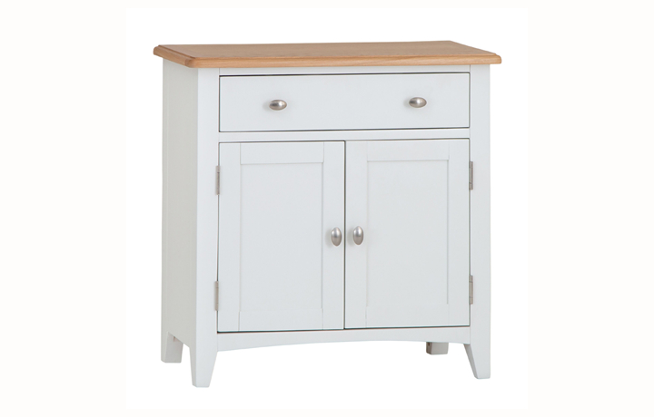 Sideboards & Cabinets - Columbus White Small 1 Drawer Sideboard