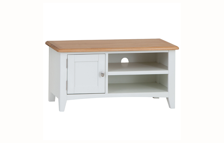 TV Cabinets - Columbus White TV Unit