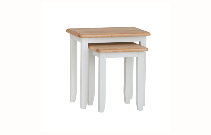 Nested Tables - Columbus White Nest of 2 Tables