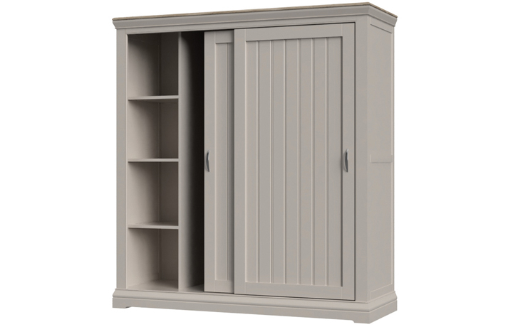 Felicity Painted Collection - Felicity Painted Sliding Door Double Wardrobe