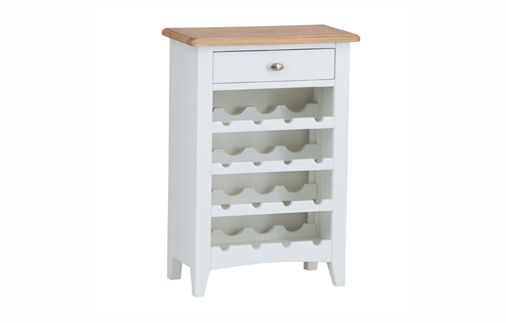 Display Cabinets - Columbus White Wine Cabinet