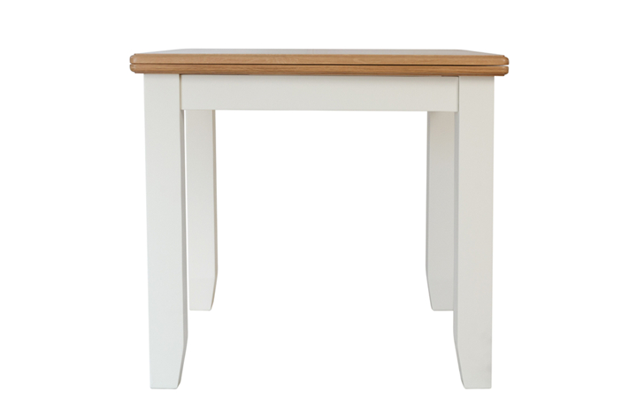 Dining Tables - Columbus White Flip Top Table