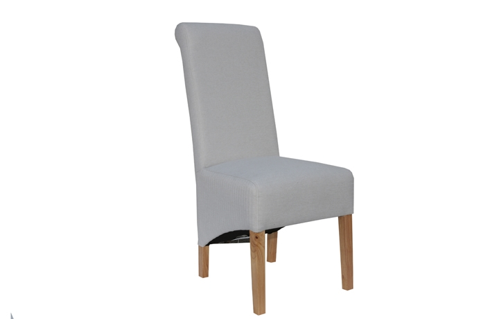 Chairs & Bar Stools - Highcliffe Natural Scroll Back Dining Chair
