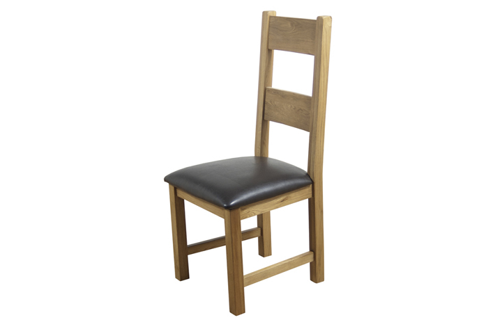 Hamilton Oak Collection - Hamilton Oak Dining Chair With Pad