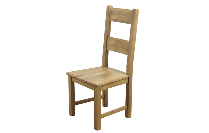 Hamilton Oak Collection - Hamilton Oak Dining Chair With Solid Seat