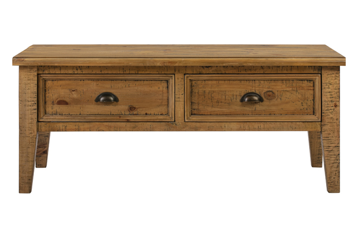 Thetford Rustic Pine Range - Thetford Rustic Pine Coffee Table With Drawers