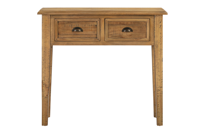Thetford Rustic Pine Range - Thetford Rustic Pine 2 Drawer Console Table