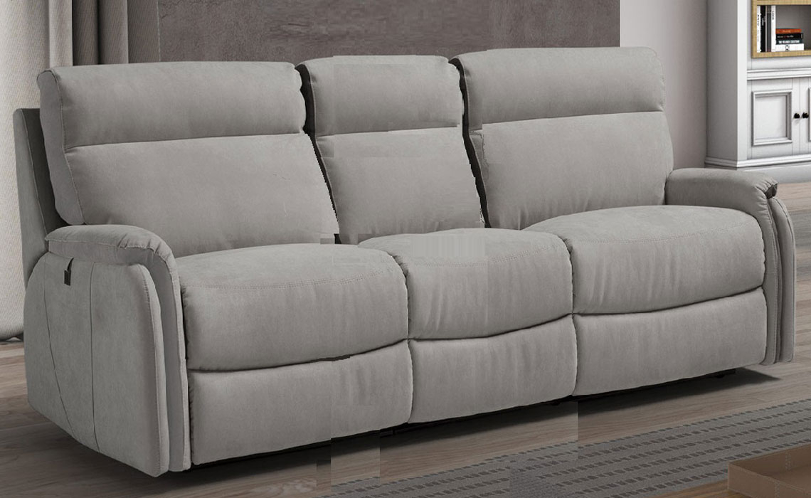 Florence Leather Collection - Florence 3 Seater Electric Recliner Sofa (Three Cushions)