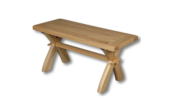 Suffolk Solid Oak Furniture Range - Suffolk Oak 120cm Bench