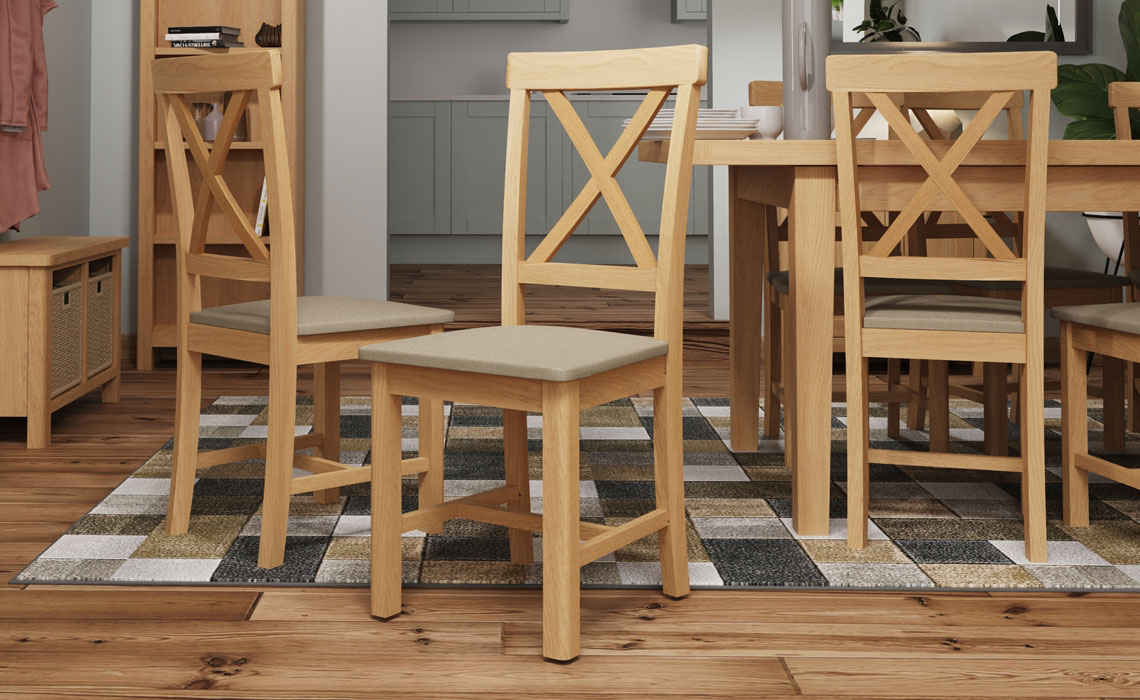 Woodbridge Oak Collection  - Woodbridge Oak Dining Chair With Pad