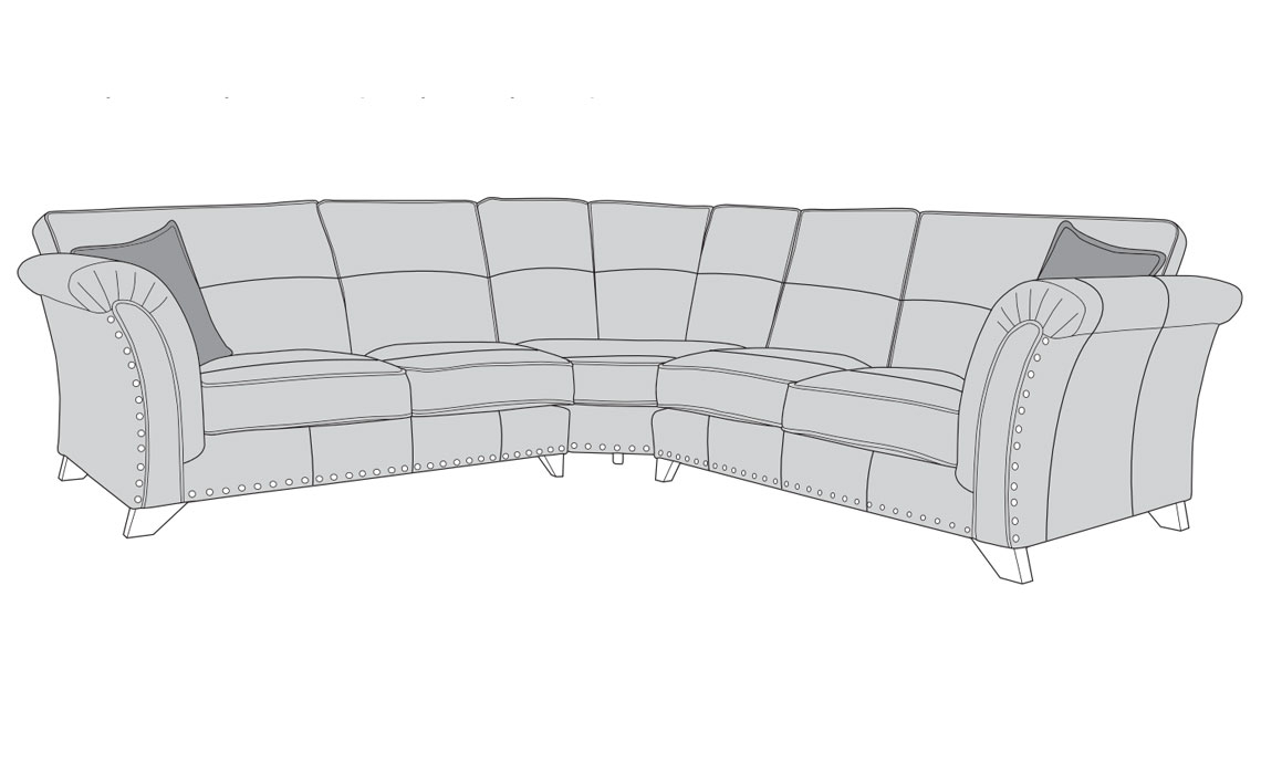 Mayfair Leather Collection - Mayfair Leather Full Corner Sofa