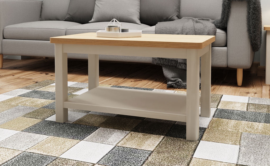 Coffee & Lamp Tables - Woodbridge Truffle Grey Painted Small Coffee Table