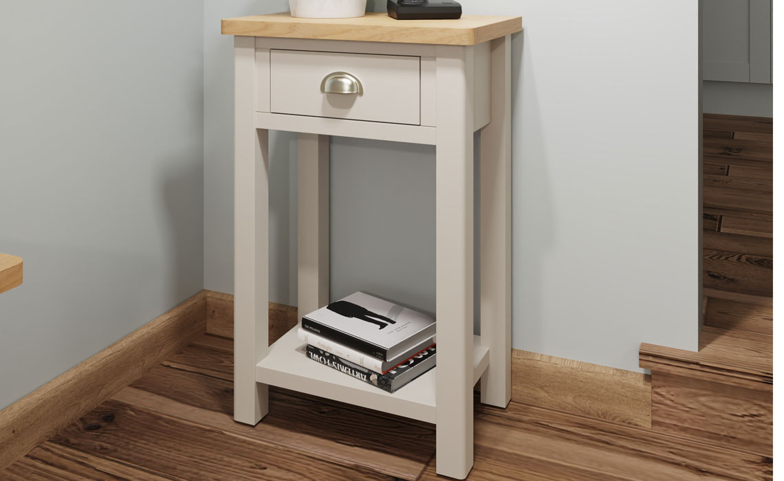 Coffee & Lamp Tables - Woodbridge Truffle Grey Painted Telephone Table