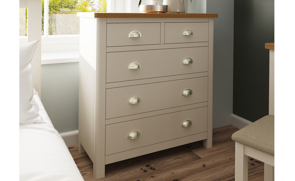 Chest Of Drawers - Woodbridge Truffle Grey Painted 2 Over 3 Chest